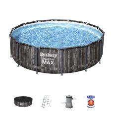 Bestway NAXOS Fa hatású fémvázas medence szett 427x107 cm
