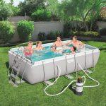 Bestway CAPRI PRO szögletes fémvázas medence szett 404 x 201 x 100 cm homokszűrős vízforgatóval