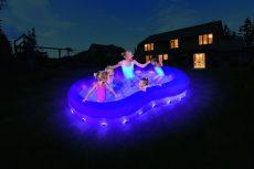 Bestway színhullám LED-világítású medence 280 x 157 x 46 cm