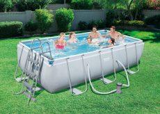 Bestway CAPRI 404x201x100 cm szögletes fémvázas medence szett