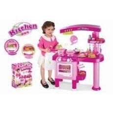 G21 Nagy játékkonyha tartozékokkal, rózsaszín